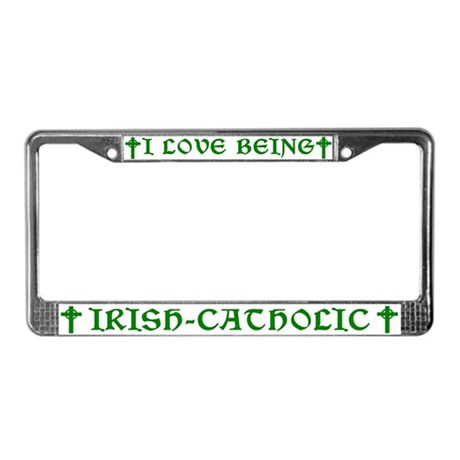 Irish-Catholic License Plate Frame