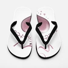 Sweet Sixteen Pink Heart Flip Flops