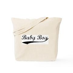 Vintage (Black) Baby Boy Tote Bag