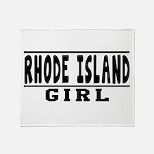 Rhode Island Girl Designs Throw Blanket