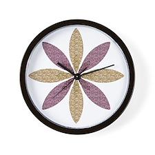 Sparkle Effect Floral Art Wall Clock