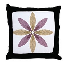 Sparkle Effect Floral Art Throw Pillow