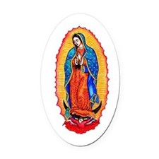14x10_virgin_of_guadalupe.png Oval Car Magnet