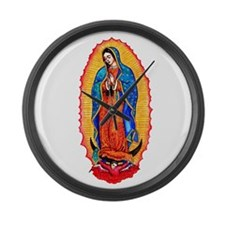 14x10_virgin_of_guadalupe.png Large Wall Clock