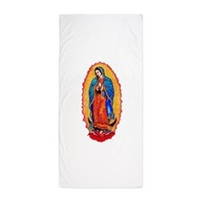 14x10_virgin_of_guadalupe.png Beach Towel