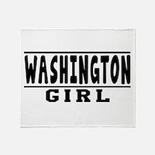 Washington Girl Designs Throw Blanket