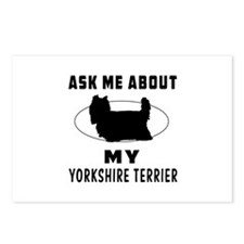 Ask Me About My Yorkshire Terrier Postcards (Packa