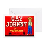 Gay Johnny Brand Greeting Cards (Pk of 10)