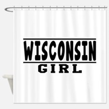 Wisconsin Girl Designs Shower Curtain