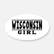 Wisconsin Girl Designs Oval Car Magnet