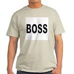 Boss (Front) Ash Grey T-Shirt