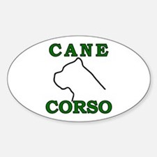Cane Corso Logo Green Decal