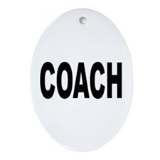 Coach Oval Ornament