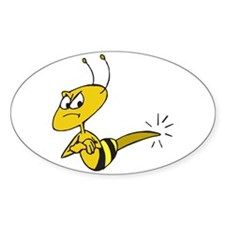 Funny Angry Bee Decal