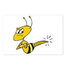 Funny Angry Bee Postcards (Package of 8)