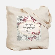 Inspirational Trees Quote Tote Bag