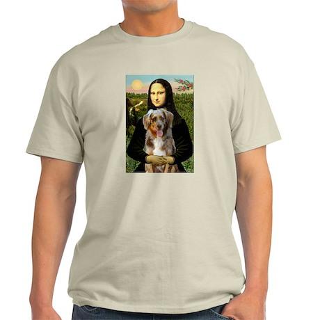 Mona's Red Merle Aussie (M) Ash Grey T-Shirt