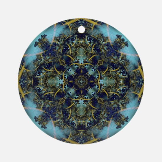 Fractal 684 Round Ornament
