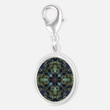 Fractal 684 Silver Oval Charm