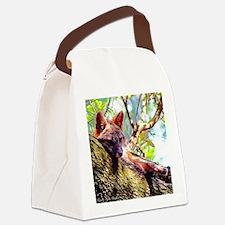 Lazy Fox Canvas Lunch Bag