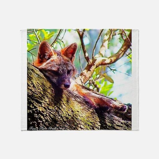 Lazy Fox Throw Blanket