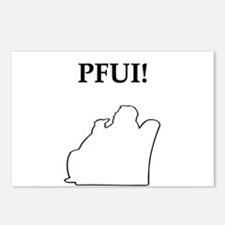 pfui gifts and t-shirts Postcards (Package of 8)