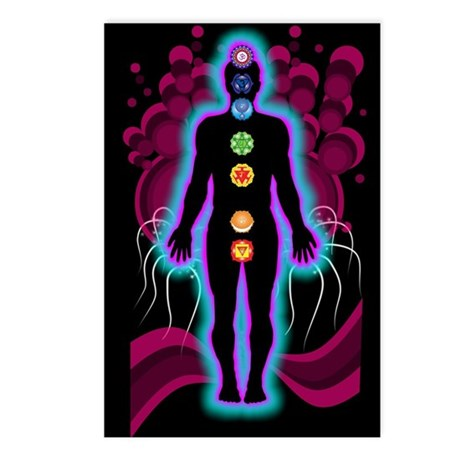 Chakra Energy Postcards (Package of 8)