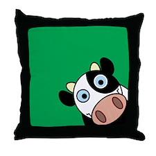 Happy Cow Throw Pillow