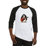 Red Acoustic Guitar Penguin Baseball Jersey