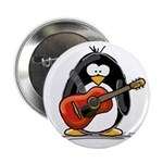 Red Acoustic Guitar Penguin Button