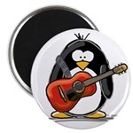 Red Acoustic Guitar Penguin Magnet
