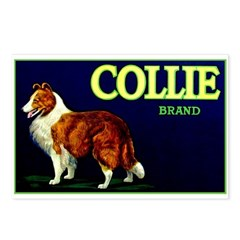 Collie Brand Postcards (Package of 8)