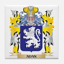 Adan Coat of Arms - Family Crest Tile Coaster