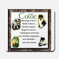 Collie Heritage Gifts Mousepad