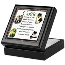 Collie Heritage Gifts Keepsake Box