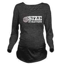 Size Matters Long Sleeve Maternity T-Shirt