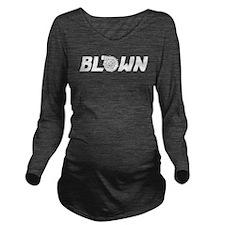 Blown Long Sleeve Maternity T-Shirt