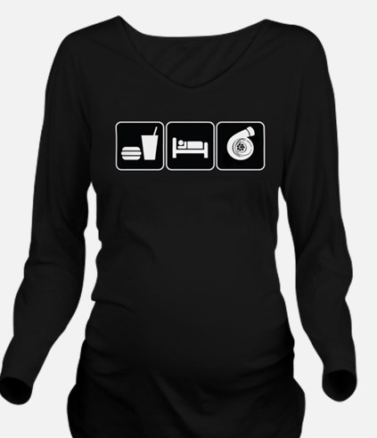 Eat Sleep Boost Long Sleeve Maternity T-Shirt