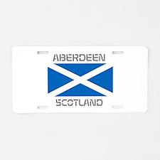 Aberdeen Scotland Aluminum License Plate