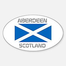 Aberdeen Scotland Sticker (Oval)
