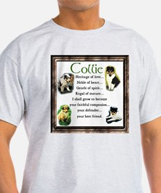 Collie Heritage Gifts Ash Grey T-Shirt