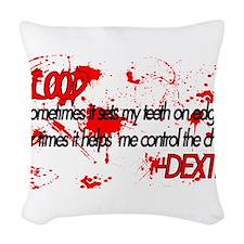 DexterBloodDesign2.png Woven Throw Pillow