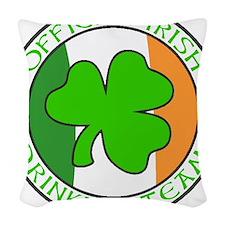 IrishDrinkingTeamDesign.png Woven Throw Pillow
