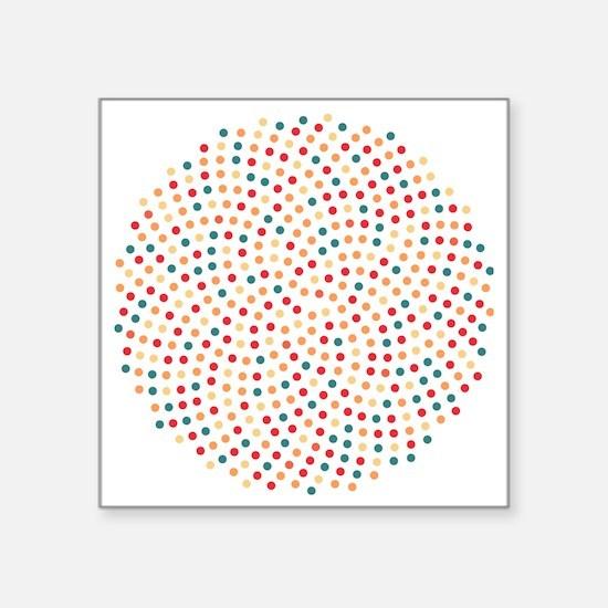 "Fibonacci sunflower spiral  Square Sticker 3"" x 3"""