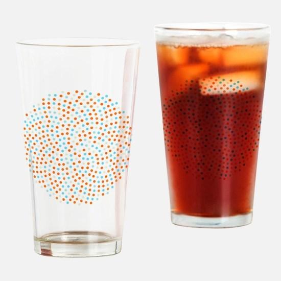 Fibonacci sunflower spiral tangerin Drinking Glass