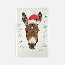 Santa Donkey! Rectangle Magnet