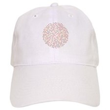 Fibonacci sunflower spiral sunset Baseball Baseball Cap