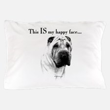 Chinese Sharpei Happy Face Pillow Case