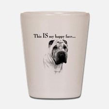 Chinese Sharpei Happy Face Shot Glass