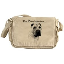 Chinese Sharpei Happy Face Messenger Bag